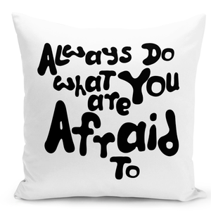 White-Throw-Pillow-Always-Do-What-You-Are-Afraid-To-Motivational-Pillow---Colorful-With-White-16-x-16-inch-Square-Home-Accent-Pillow-Sofa-Cushion-