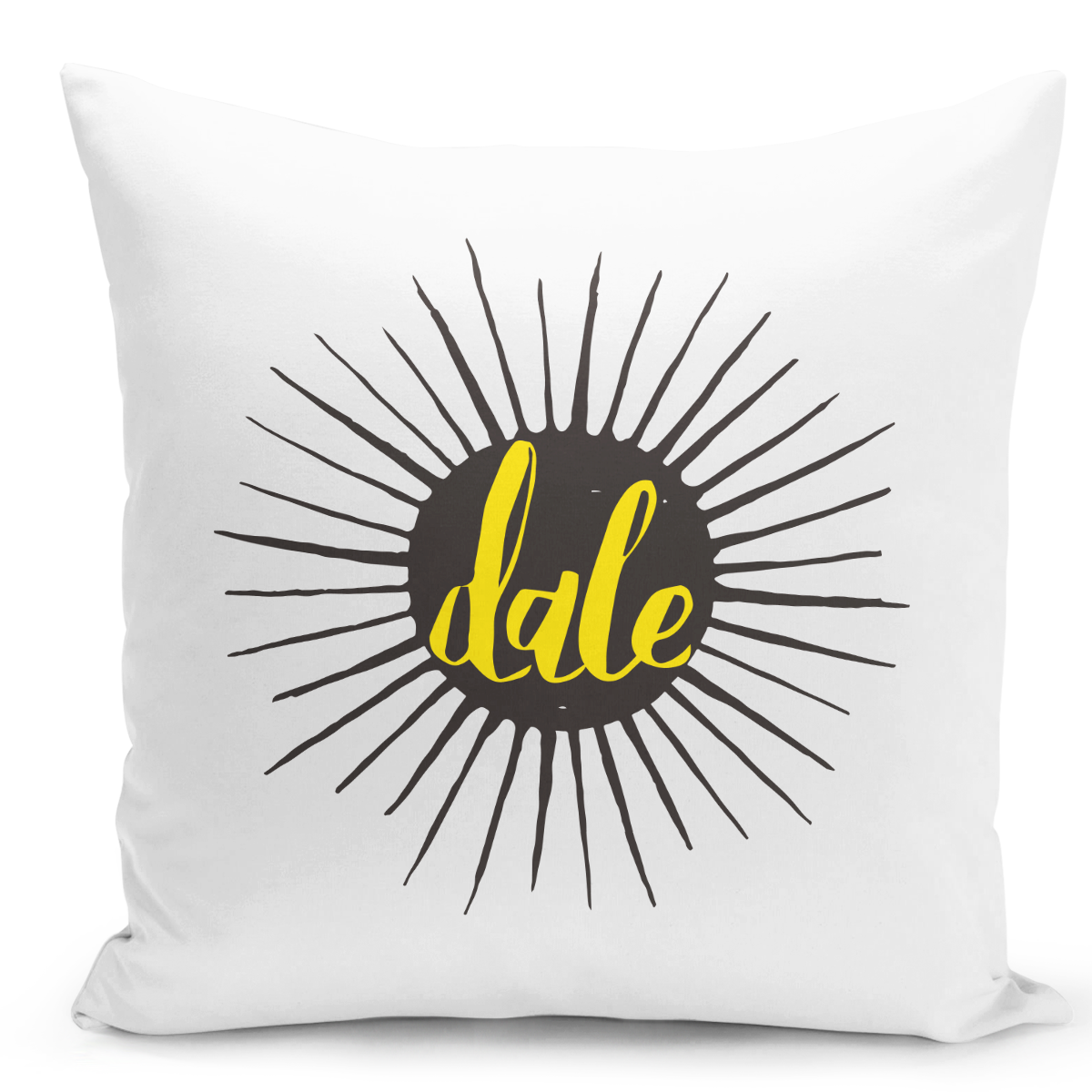 White-Throw-Pillow-Dale-Comic-Style---Durable-White-16-x-16-inch-Square-Modern-Livingroom-Decorative-Pillow-16x16-inch-