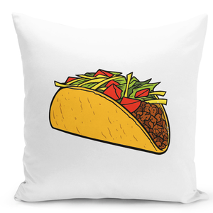 White-Throw-Pillow-Taco-Lovers---Colorful-With-White-16-x-16-inch-Square-Home-Accent-Pillow-Sofa-Cushion-