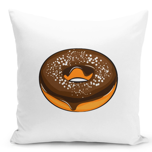 White-Throw-Pillow-Chocolate-Donut-Lovers---Colorful-With-White-16-x-16-inch-Square-Home-Accent-Pillow-Sofa-Cushion-