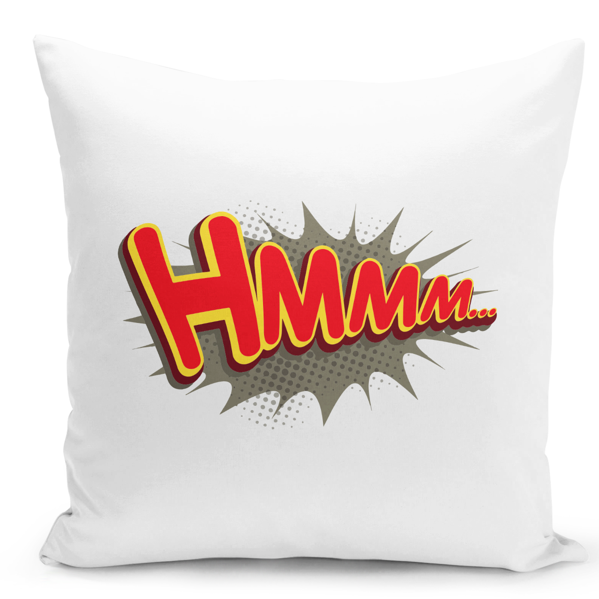 White-Throw-Pillow-Hmmm-Funny-Conic-Style-Pillow---Durable-White-16-x-16-inch-Square-Modern-Livingroom-Decorative-Pillow-16x16-inch-