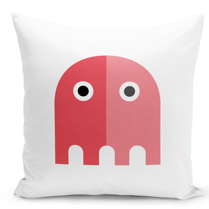 White-Throw-Pillow-Miss-Packman-Pink-Lady-Packman---Colorful-With-White-16-x-16-inch-Square-Home-Accent-Pillow-Sofa-Cushion-