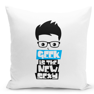 White-Throw-Pillow-Geek-Is-The-New-Sexy-Pillow-Flr-Nerdy-Boys---Durable-White-Polyester-16-x-16-inch-Square-Modern-Home-Decor-Printed-Pillow-