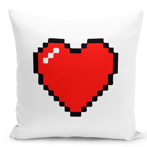 White-Throw-Pillow-Love-Heart-Pillow---Colorful-With-White-16-x-16-inch-Square-Home-Accent-Pillow-Sofa-Cushion-