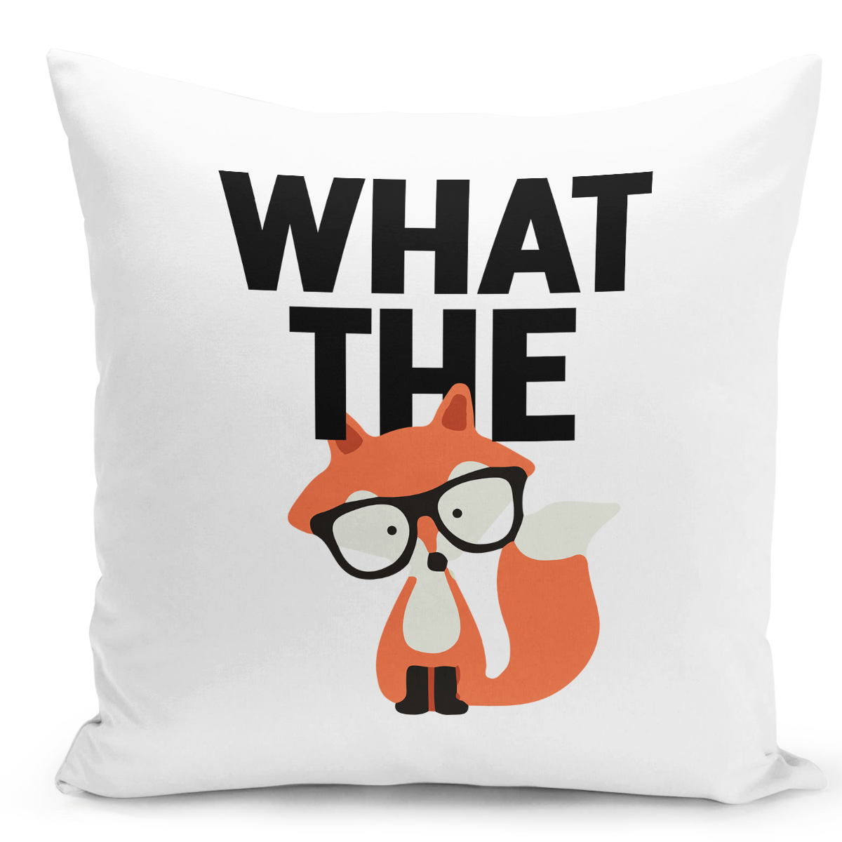16x16-inch-Throw-Pillow-for-Home-Decor-with-Stuffing-What-The-Fox-Nerdy-Friend-