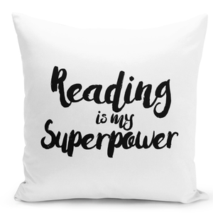16x16-inch-Throw-Pillow-for-Home-Decor-with-Stuffing-Reading-Is-My-Super-Power-