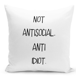 16x16-inch-Throw-Pillow-for-Home-Decor-with-Stuffing-Not-Antisocial-Anti-Idiot-