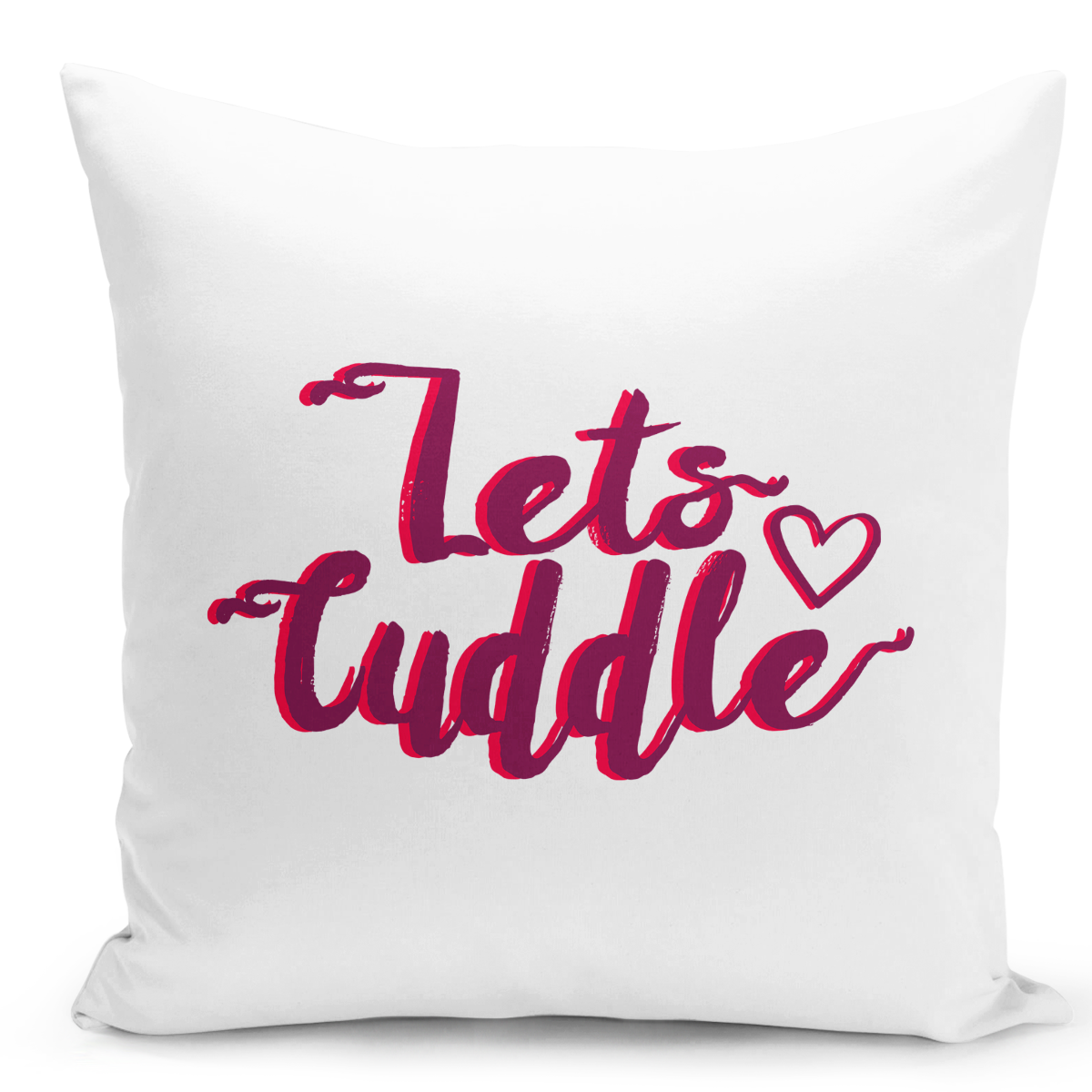 16x16-inch-Throw-Pillow-for-Home-Decor-with-Stuffing-Lets-Cuddle-Couples-Pillow-