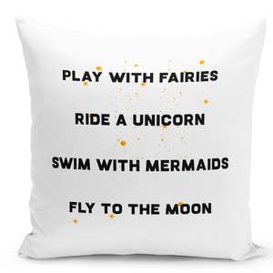 16x16-inch-Throw-Pillow-for-Home-Decor-with-Stuffing-Fairies-Unicorn-Mermaids-And-Moon-Dreamers-Pillow-