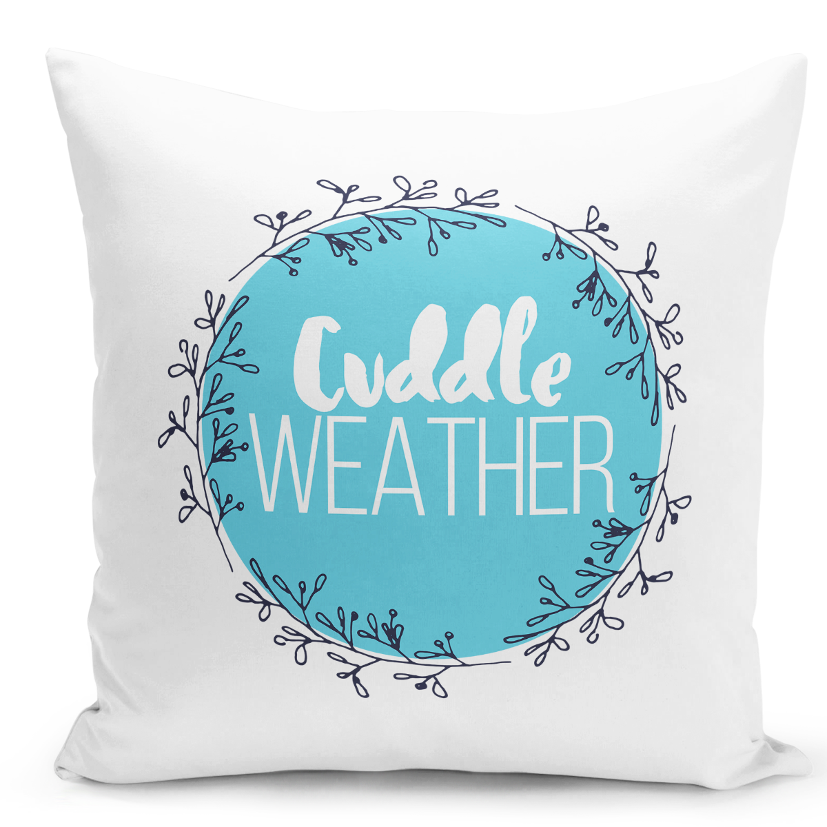 16x16-inch-Throw-Pillow-for-Home-Decor-with-Stuffing-Floral-Cuddly-Weather-Couples-Pillow-