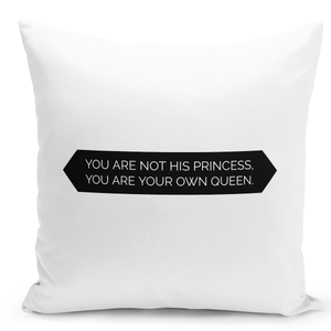 16x16-inch-Throw-Pillow-for-Home-Decor-with-Stuffing-Princess-And-Queen-Quote-Strong-Women-Statement-Pillow-