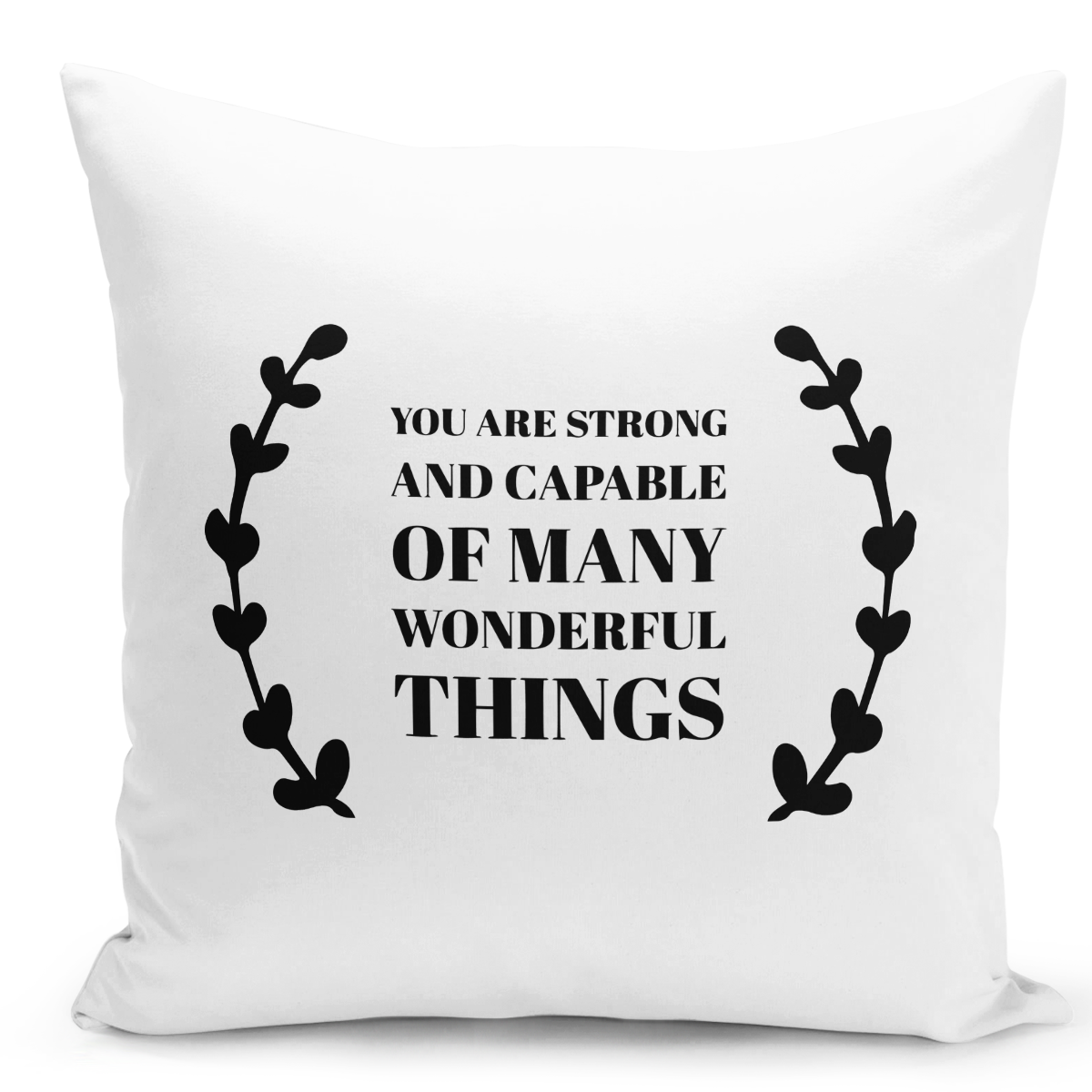 16x16-inch-Throw-Pillow-for-Home-Decor-with-Stuffing-You-Are-Strong-And-Capable-Of-Many-Thing-Motivational-Pillow-