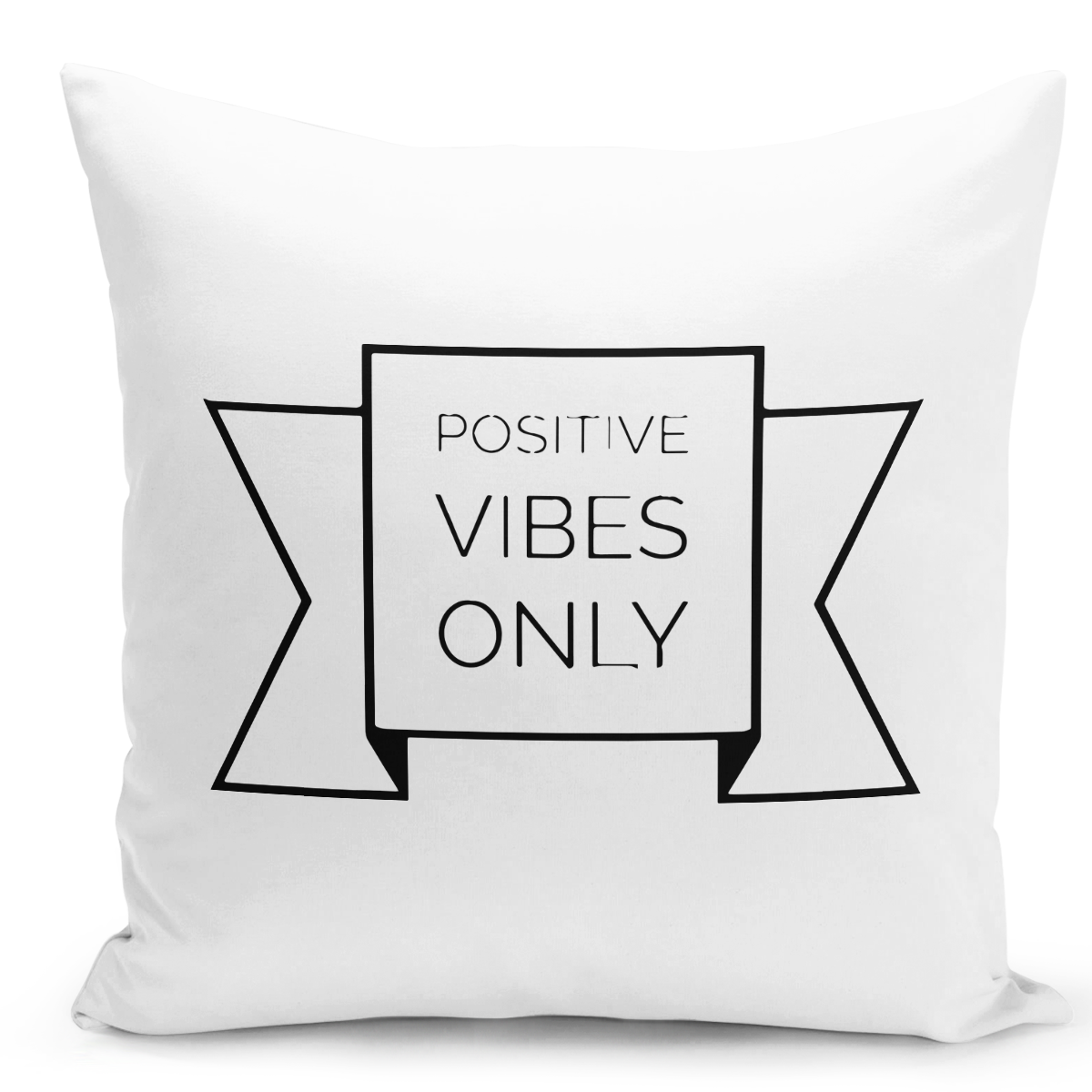 16x16-inch-Throw-Pillow-for-Home-Decor-with-Stuffing-Positive-Vibes-Only-