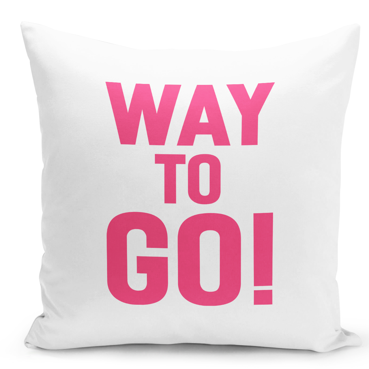 16x16-inch-Throw-Pillow-for-Home-Decor-with-Stuffing-Way-To-Go-Pink-Girly-Pillow-