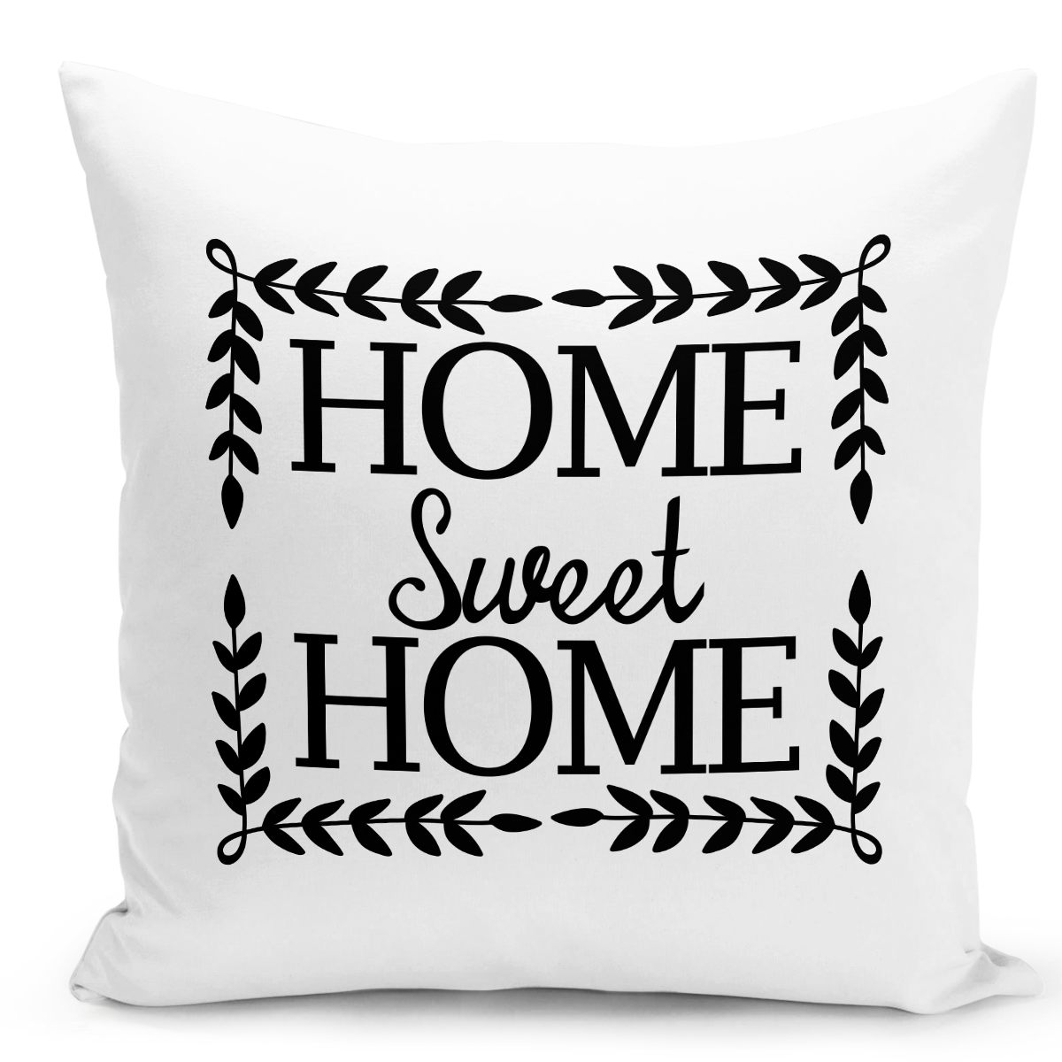 White-Throw-Pillow-Home-Syweet-Home-Pillow---Pure-White-Printed-16-x-16-inch-Square-Home-Decor-Couch-Pillow-