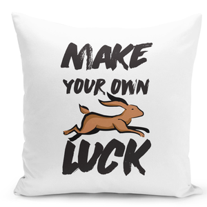 16x16-inch-Throw-Pillow-for-Home-Decor-with-Stuffing-Make-Your-Own-Luck-Deer-Run-Positive-Pillow-