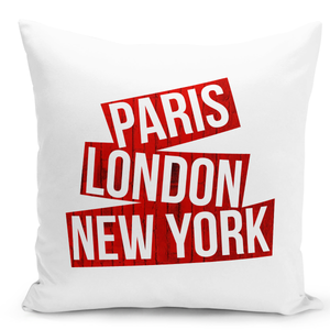 White-Throw-Pillow-Paris-London-Newyork-Famour-World-Destinations---Pure-White-Printed-16-x-16-inch-Square-Home-Decor-Couch-Pillow-