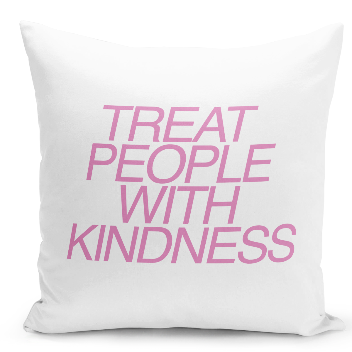 16x16-inch-Throw-Pillow-for-Home-Decor-with-Stuffing-Treat-People-With-Kindness-Positive-Advice-Pillow-With-Words-