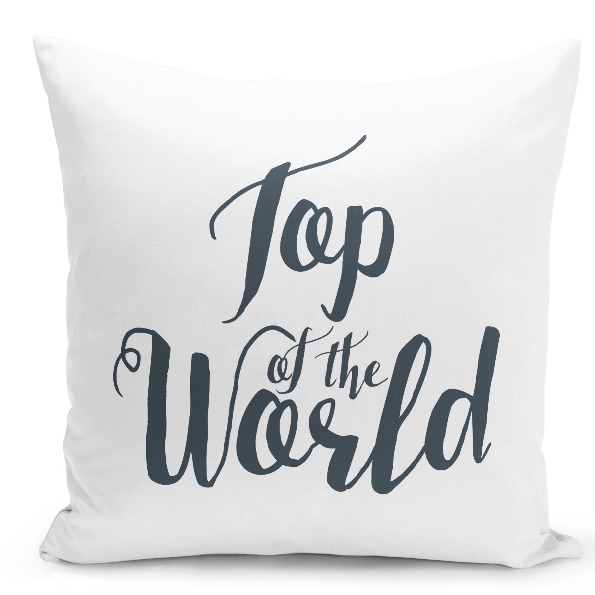 16x16-inch-Throw-Pillow-for-Home-Decor-with-Stuffing-Top-Of-The-World-Pillow-