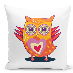16x16-inch-Throw-Pillow-for-Home-Decor-with-Stuffing-Cute-Owl-Pillow-Love-Heart-Couples-Pillow-