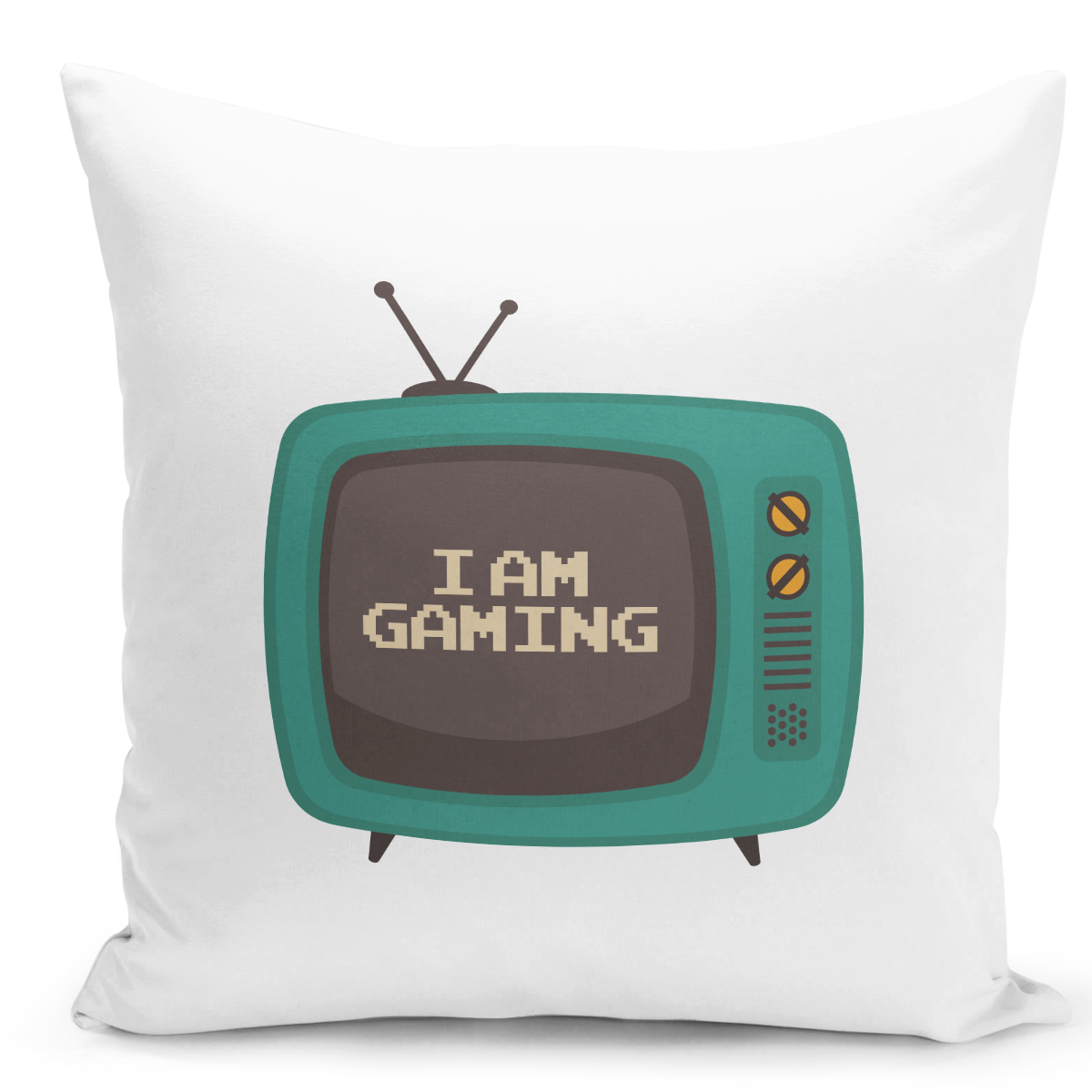 White-Throw-Pillow-Vintage-Old-Gamer-Im-Gaming---Pure-White-Printed-16-x-16-inch-Square-Home-Decor-Couch-Pillow-