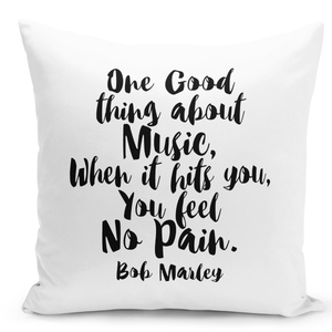 16x16-inch-Throw-Pillow-for-Home-Decor-with-Stuffing-Music-Feel-No-Pain-Bob-Marley-Quote-Pillow-