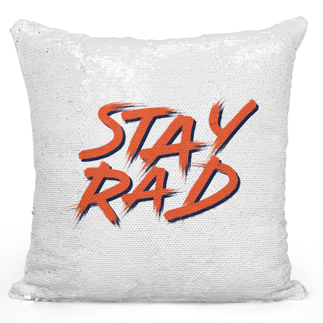 16x16 inch Sequin Throw Pillow Magic Flip Pillow Stay Rad Pillow With Words Loud Universe