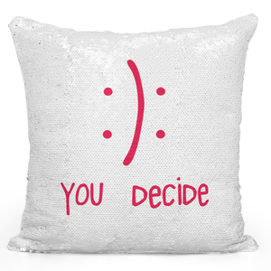 16x16 inch Sequin Throw Pillow Magic Flip Pillow Happy Or Sad You Decide Good Or Bad Pillow For Friends And Family Loud Universe