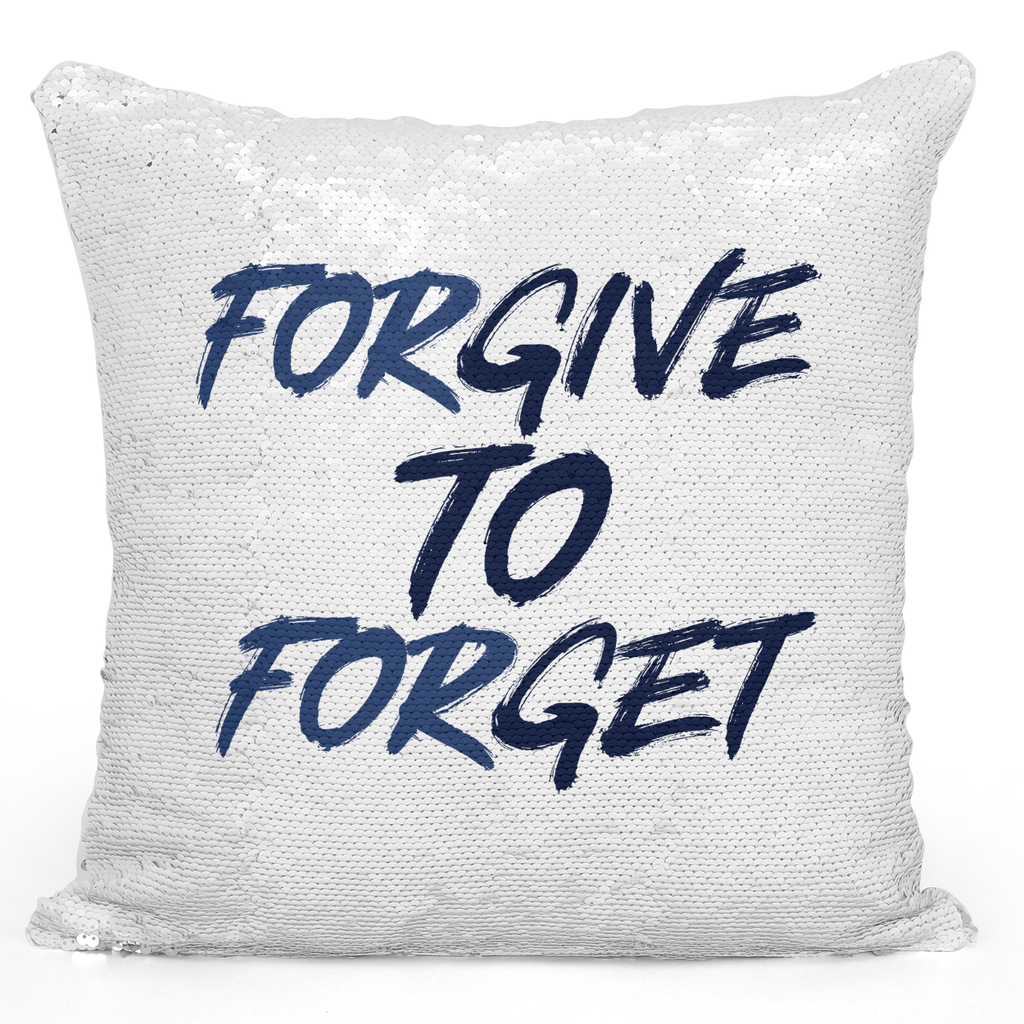 16x16 inch Sequin Throw Pillow Magic Flip Pillow Forgive To Forget Wisdom Kindness Pillow Loud Universe