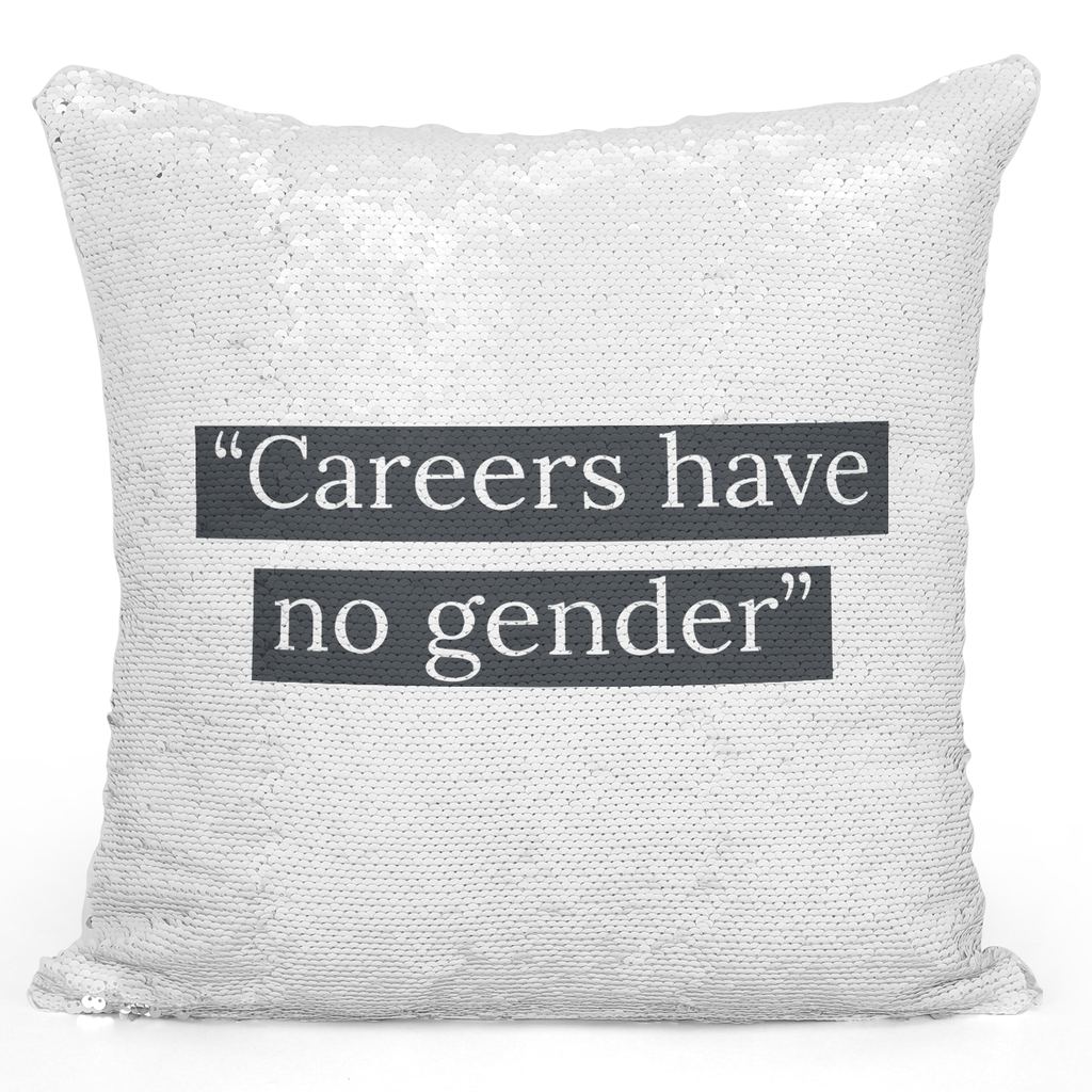 16x16 inch Sequin Throw Pillow Magic Flip Pillow Carreers Have No Gender Pillow With Words Loud Universe