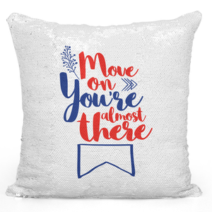Sequin Pillow Magic Mermaid Throw Pillow Move On You Are Almost There Quote Pillow - Durable White 16 x 16 inch Square Livingroom Sofa Couch Pillow Loud Universe