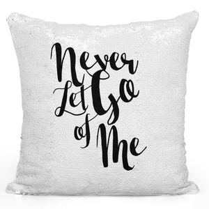 Sequin Pillow Magic Mermaid Throw Pillow Never Let Go Of Me Couples Love Pillow - Premium 100% Polyester 16 x 16 inch Square Modern Livingroom Decorative Pillow Loud Universe