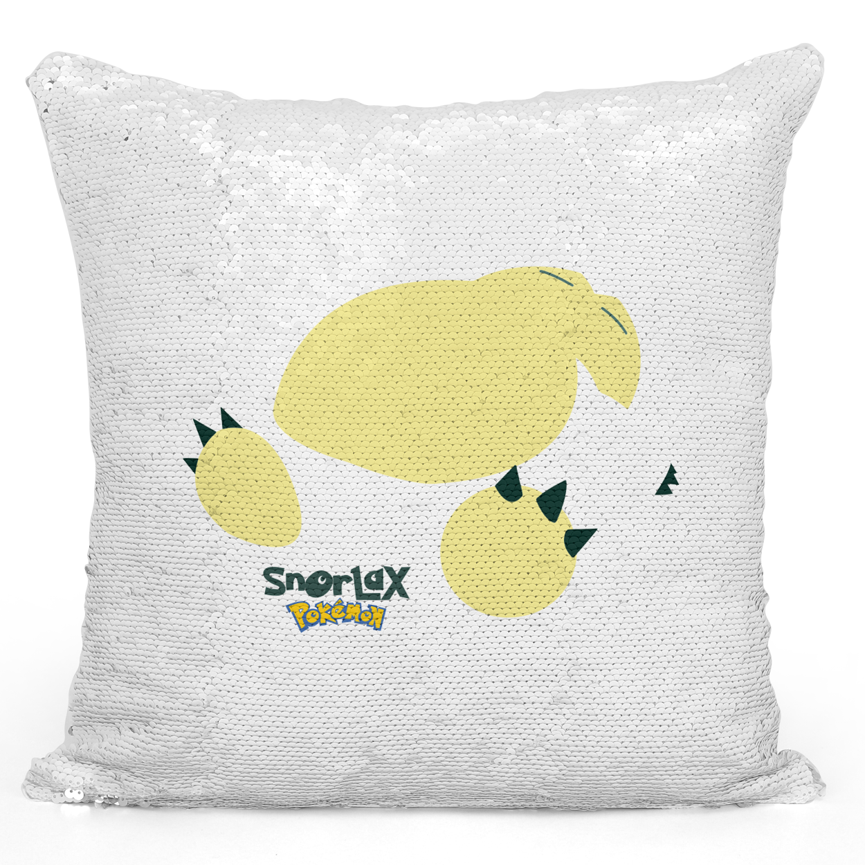 Sequin Pillow Magic Mermaid Throw Pillow Game Pillow Snorlax Fans Pillow - Premium 100% Polyester 16 x 16 inch Square Modern Livingroom Decorative Pillow Loud Universe