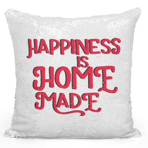 16x16 inch Sequin Throw Pillow Magic Flip Pillow Happiness Is Home Made Housewarming Pillow Loud Universe