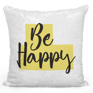 16x16 inch Sequin Throw Pillow Magic Flip Pillow Be Happy Cheerful Gift Pillow Loud Universe