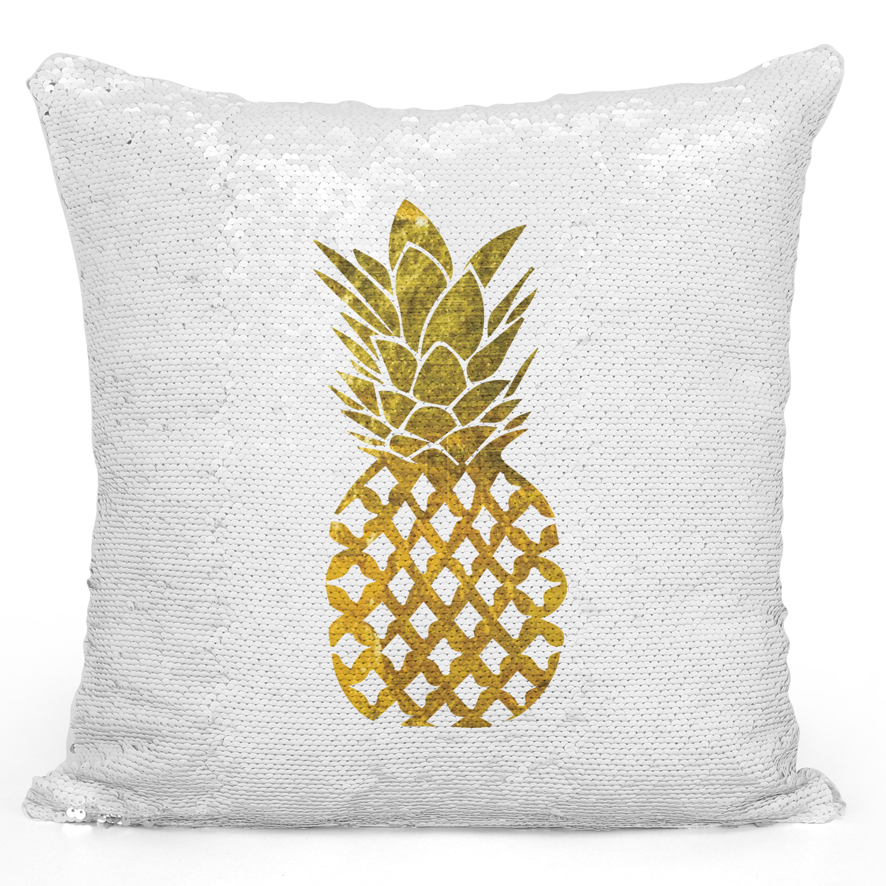16x16 inch Sequin Throw Pillow Magic Flip Pillow Golden Pineapple Unique Decor Pillow Loud Universe