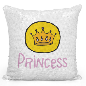 16x16 inch Sequin Throw Pillow Magic Flip Pillow Princess Crown Pillow Loud Universe