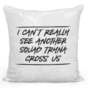 16x16 inch Sequin Throw Pillow Magic Flip Pillow Squad Funny Quote Pillow Loud Universe
