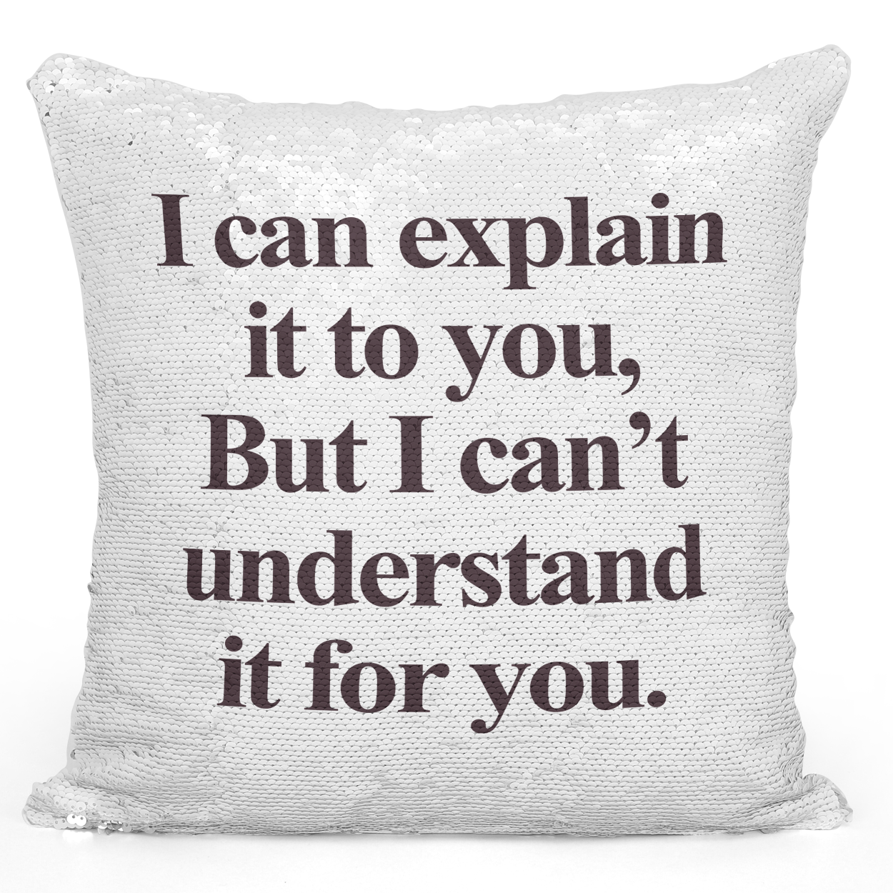 16x16 inch Sequin Throw Pillow Magic Flip Pillow i Can Explain It To You Sarcastic Friends Pillow Loud Universe