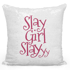 16x16 inch Sequin Throw Pillow Magic Flip Pillow Slay Girl Slay Women Girls Female Pillow Loud Universe