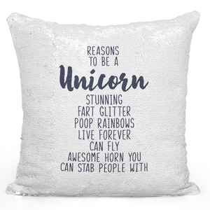 16x16 inch Sequin Throw Pillow Magic Flip Pillow Unicorn Glitter Fart Rainbow Poop Funny Witty Unicorn Pillows Loud Universe