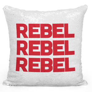 16x16 inch Sequin Throw Pillow Magic Flip Pillow Rebel Rebel Rebel Youth Teenagers Pillow Loud Universe
