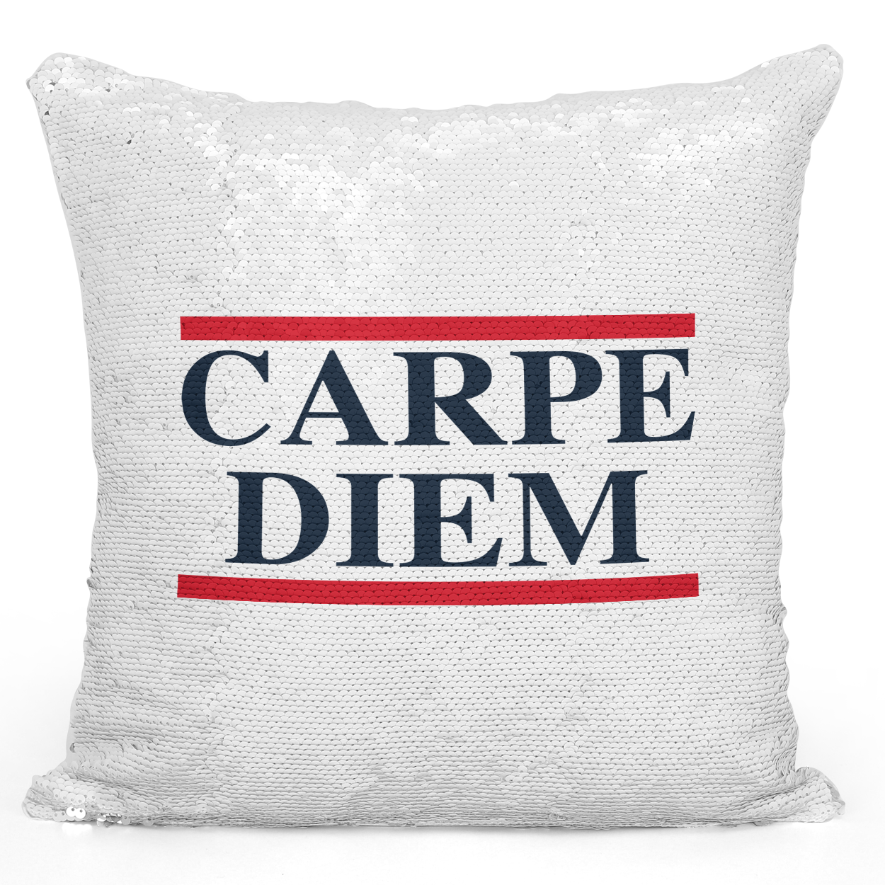 16x16 inch Sequin Throw Pillow Magic Flip Pillow Carpediem Printed Pillow With Words Loud Universe