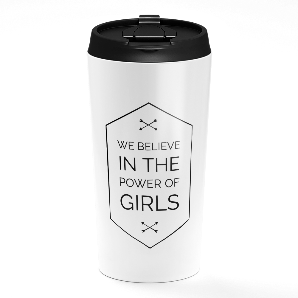 White Travel Tumbler i Like My Coffee  Beverage Tumbler with Black Sip Lid Loud Universe