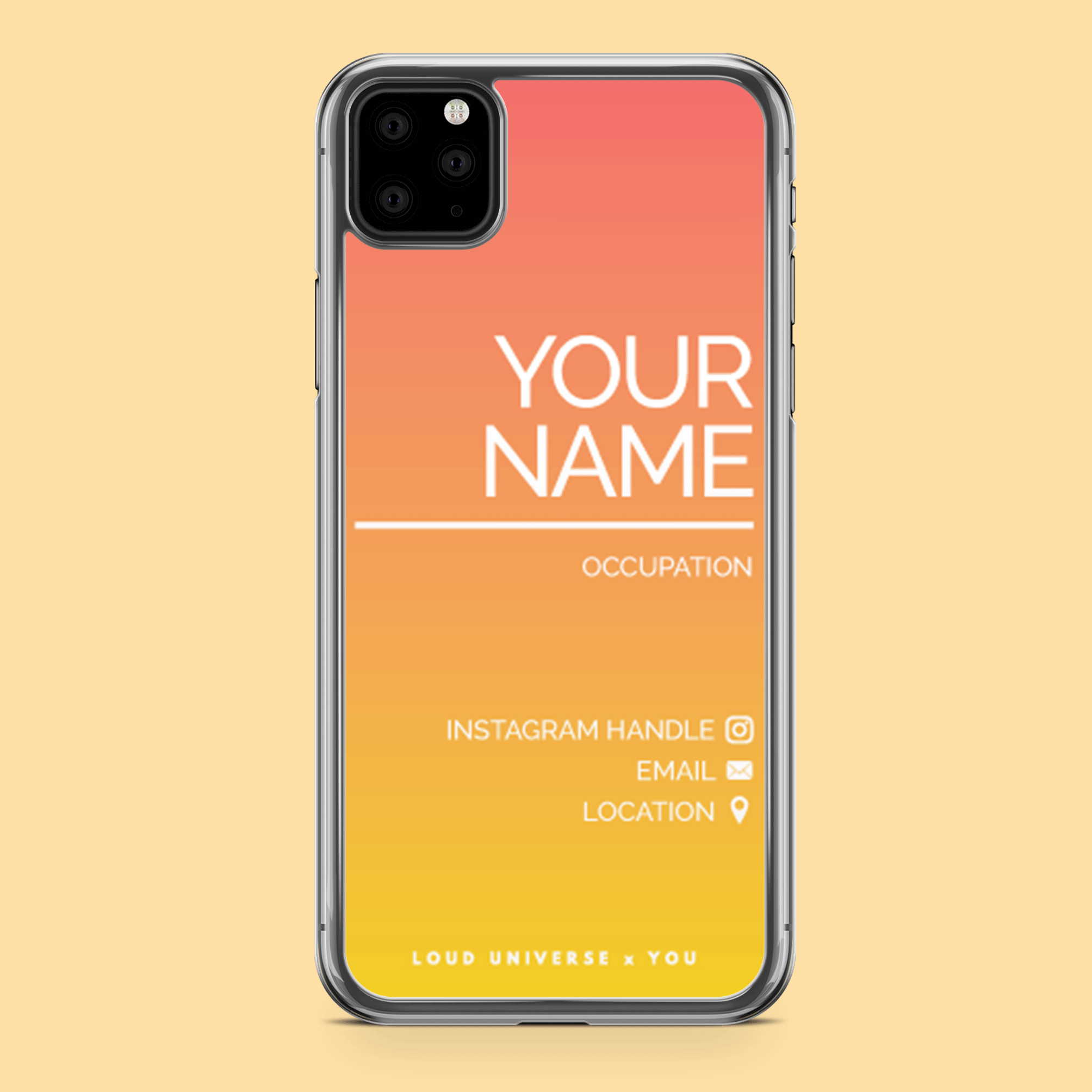 Social Profile Custom Phone Case