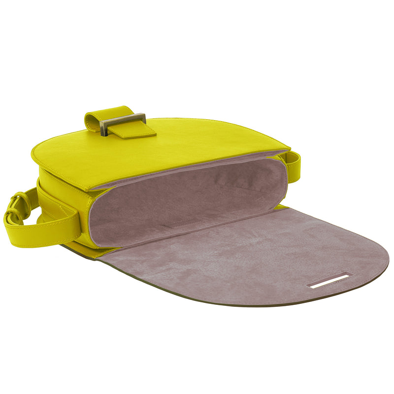 Saddle Bag small lemon/truffle