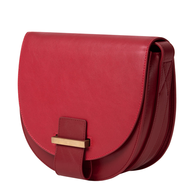 Saddle Bag small lacca/plum
