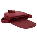 Saddle Bag small plum