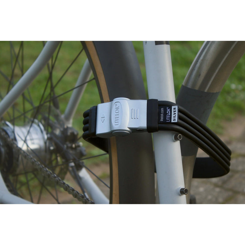 LITELOK® Flexi U Silver eScooter eBike Lock - Switch Cycles