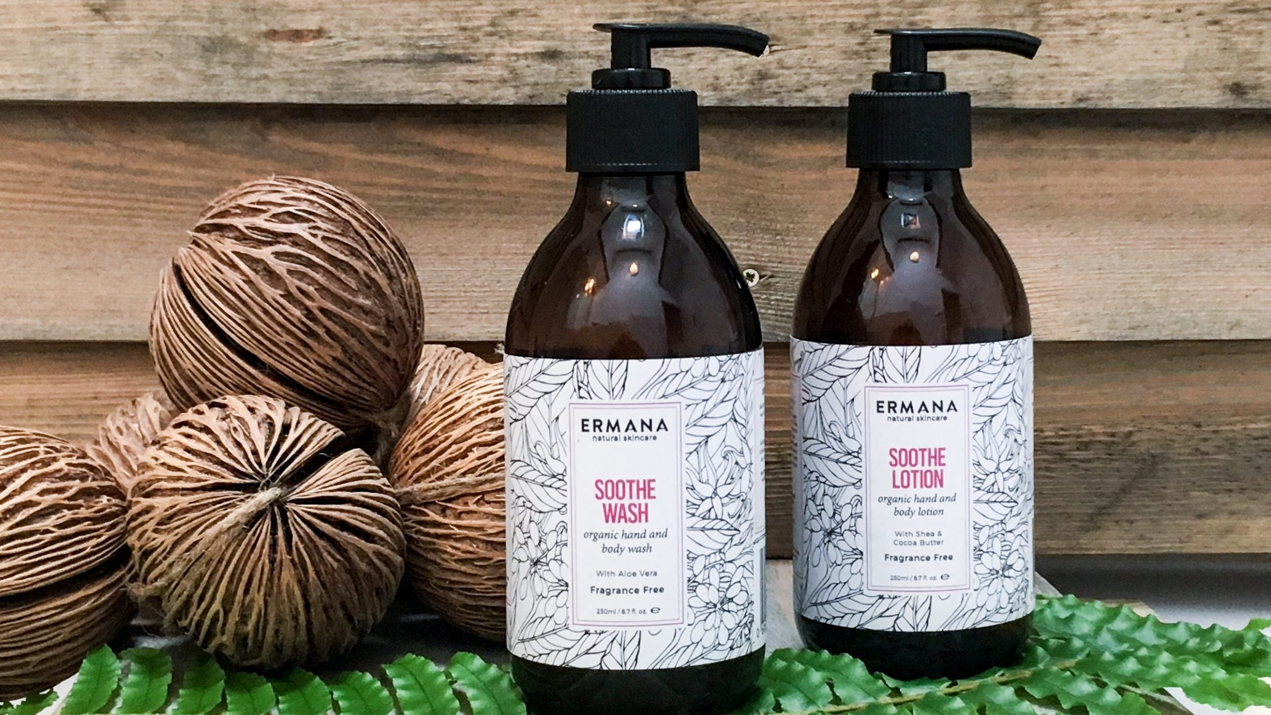 Soothe Organic Hand & Body Lotion 250ml - Ermana Natural Skincare